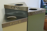 Recycle bins at Valencia's downtown center