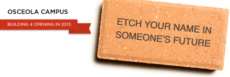 Click here to purchase your engraved brick and etch your name in Valencia's legacy.