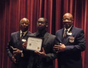 scholarship recipient Marcellus Hagler
