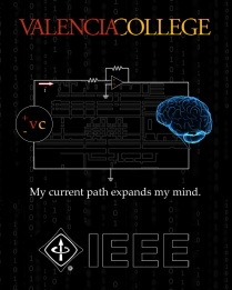 Valencia's student chapter of IEEE won first place at IEEE Southeast Conference for their student T-shirt design.