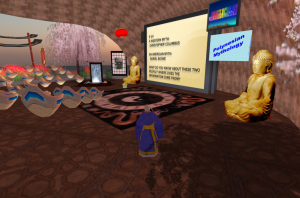 Professor Frame's classroom in Second Life