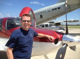 Brad with plane
