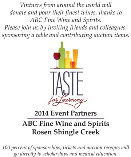 An evening of food, wine and spirits paired with an auction to benefit scholarships and medical education.