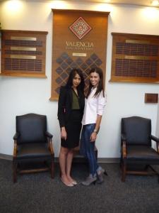 (l to r) Jen Bhagirath, Valencia Foundation scholarship coordinator, and Elizabeth Rodriguez