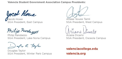 Valencia Student Government Association Presidents