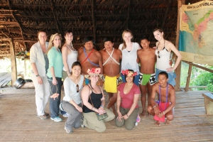 Valencia students visit the Embera tribe