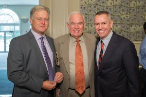 College President Dr. Sandy Shugart, former County Mayor Rich Crotty, and Valencia Trustee John Crossman celebrate students at the 2014 scholarship luncheon.