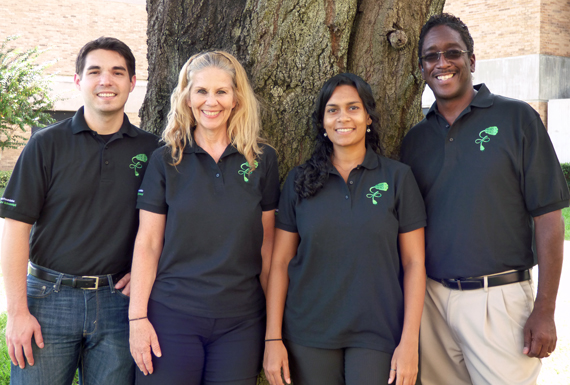 Left to Right: Brandon Golbeck, energy specialist; Patti Riva, operations manager, energy education; Resham Shirsat, director, sustainability; and Robert Hickman, operations manager, energy efficiency.