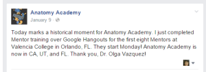 Twitter screen shot of the opening of Health Academy